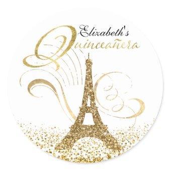 Eiffel Tower Personalized Classic Round Sticker