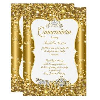 Glitter Fairytale Gold Carriage Party