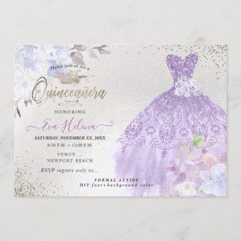 Quinceañera Glitters Gown Dusty Purple Lilac