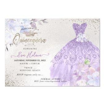 Quinceañera Glitters Gown Dusty Purple Lilac
