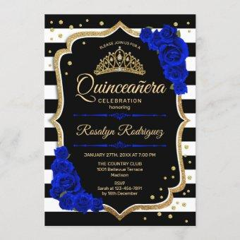 Gold Black Royal Blue