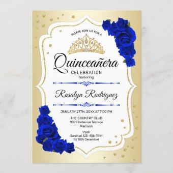 Gold White Royal Blue
