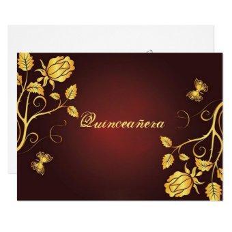 Gold Foil on Burgundy,