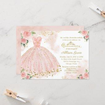 Gold Foil Pink Blush Gown