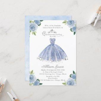 Spanish Blue Gown Floral