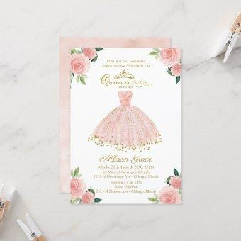 Spanish Blush Gown Floral