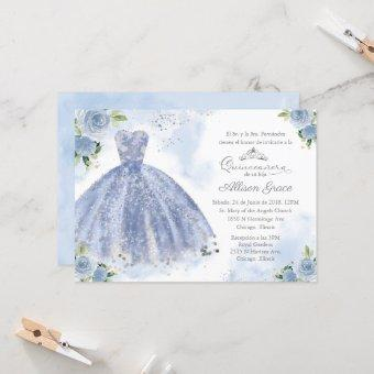 Spanish Silver Blue Gown