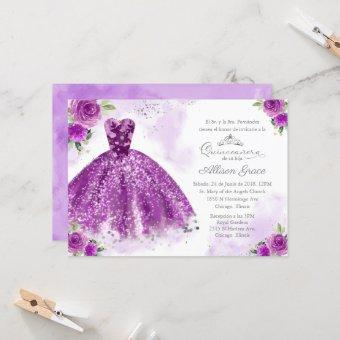 Spanish Silver Purple Gown
