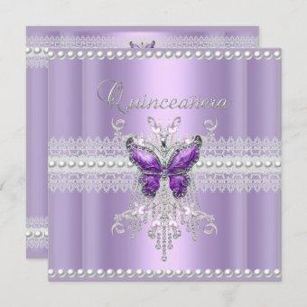 Lilac Pink Pearl Lace Butterfly