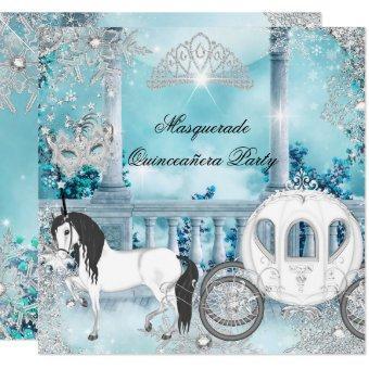 Magical Princess Blue Horse Carriage