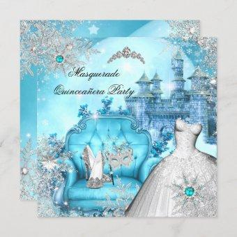 Masquerade Magical Princess Blue Teal