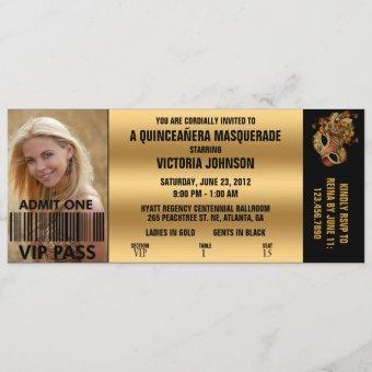 Quinceañera Masquerade VIP Admission Ticket
