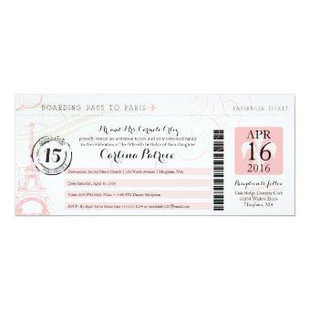 Quinceanera | Paris Boarding Pass Invitations