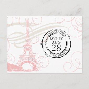 Paris Boarding Pass RSVP Post