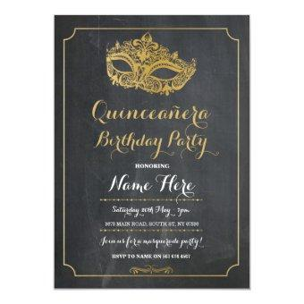 Party MASQUERADE Birthday Mask Invite