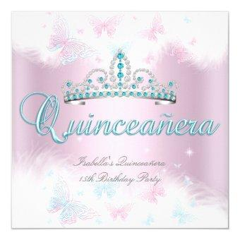 Party Pink Teal Tiara Butterfly 2
