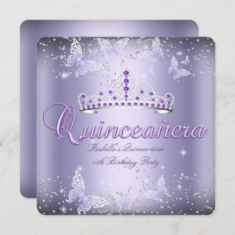 Party Purple Tiara Butterfly 2