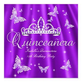Party Purple Tiara Butterfly
