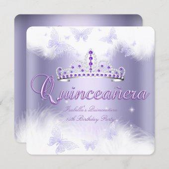 Party Purple Tiara Butterfly