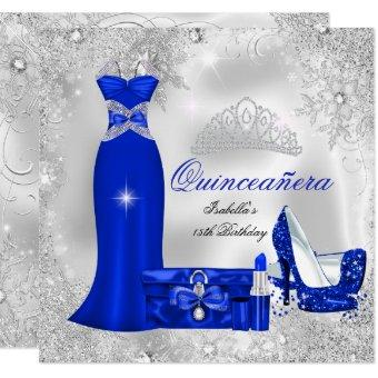 Party Royal Blue Silver Snowflakes S