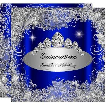 Party Royal Blue Silver Tiara