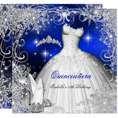 Party Royal Blue Winter Wonderland