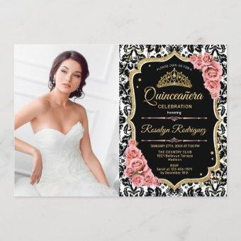 Party With Photo - Pink Gold Black