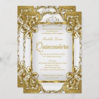 Photo White Golden Pearl Tiara Party