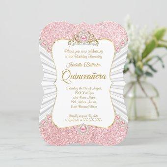 Pink Pearls Gold tiara birthday Party