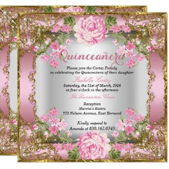 Pink Vintage Country Floral Gold 2