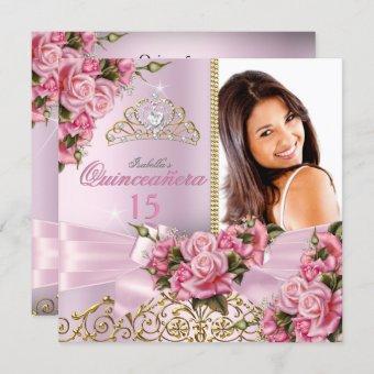 Pretty Pink Roses Tiara Photo Birthday