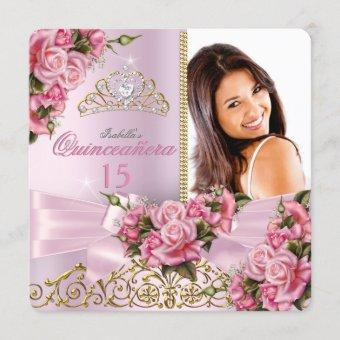 Pretty Pink Roses Tiara Photo Birthday