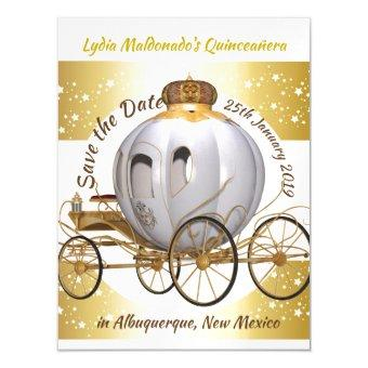 Princess Carriage Save the Date Magnetic
