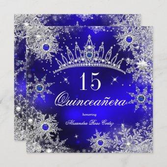 Princess Royal Blue Snowflake Tiara