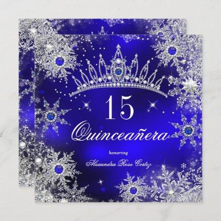 Princess Royal Blue Snowflake Tiara