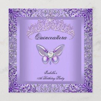 Purple Butterfly 15th Birthday Party