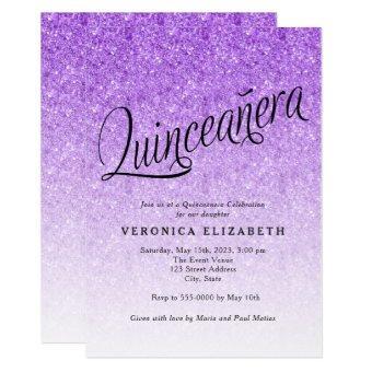 Purple Glitter Birthday