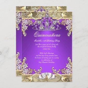 Purple Gold White 15th Birthday Party