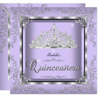Purple Lavender Silver Diamond Tiara 3
