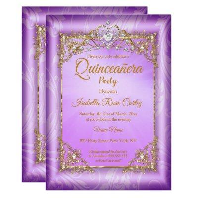 Purple pearl photo Gold Tiara party