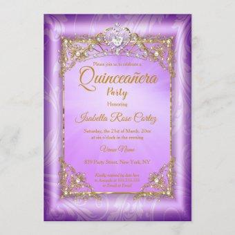 Purple pearl photo Gold Tiara party