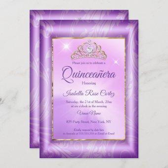 Purple photo Gold Tiara party