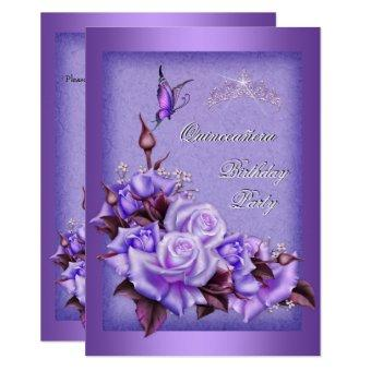 Purple Roses Butterfly Floral 2a