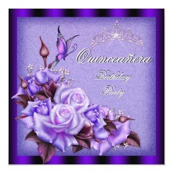 Purple Roses Butterfly Floral