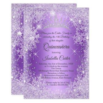 Purple Snowflake Winter Wonderland