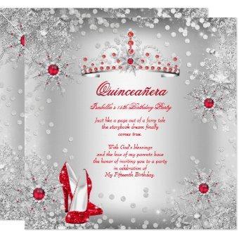 Red Silver Winter Wonderland