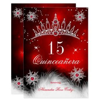 Regal Red Snowflake 15th Birthday