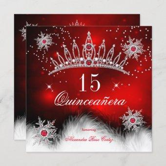 Regal Red Snowflake 15th Birthday