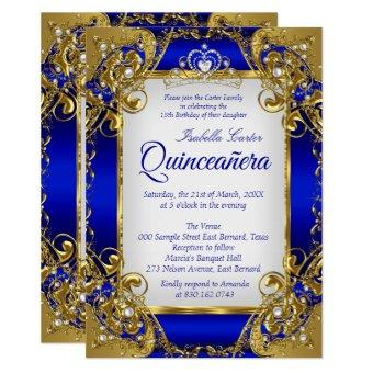 Royal Blue Golden Pearl Tiara Party