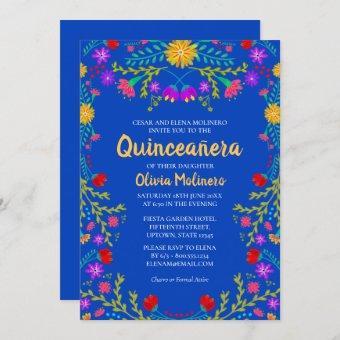 Royal Blue Mexican Flowers Birthday